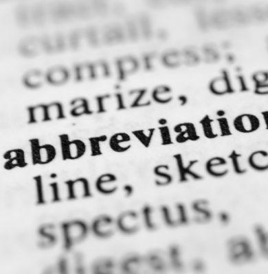 HIPAA Abbreviations